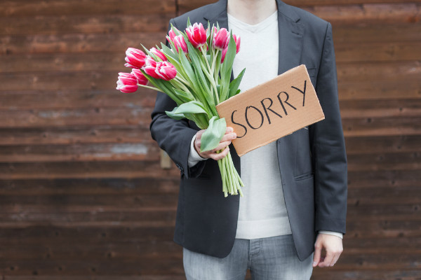 apology sorry flowers