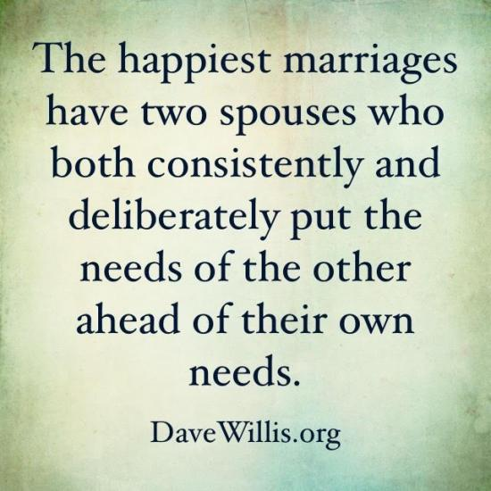 6. Your spouse's needs have to come before your own.