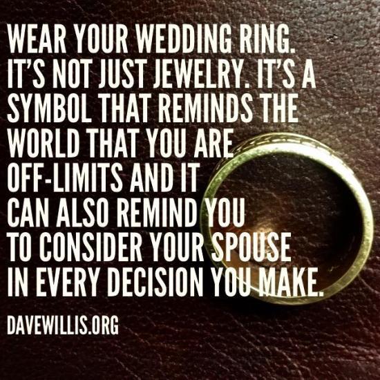 7. Not wearing a wedding ring.