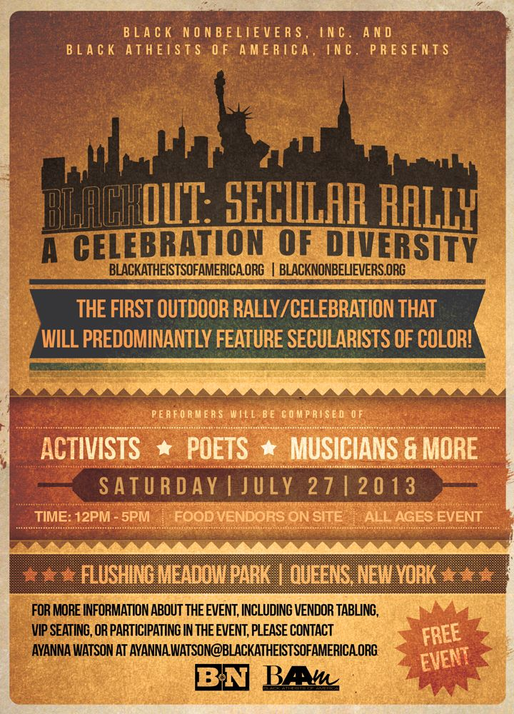 Blackout Secular Rally Banner