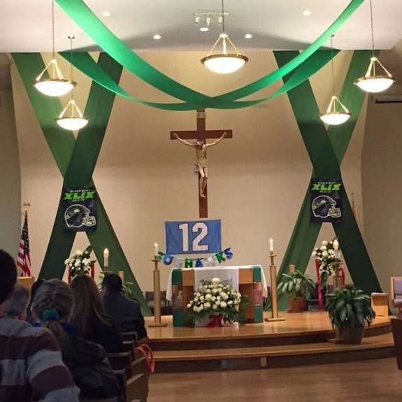 This Is Different One Seattle Parish On Super Bowl Sunday