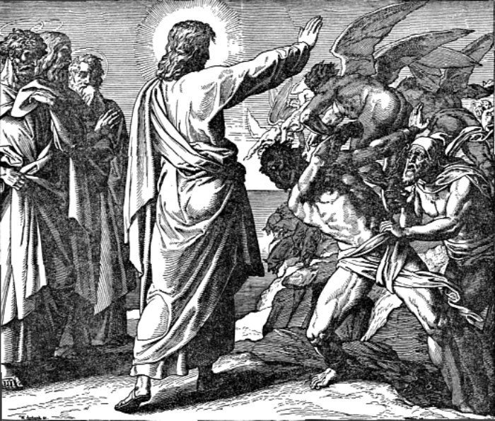 Jesus casts Legion from the man into swine