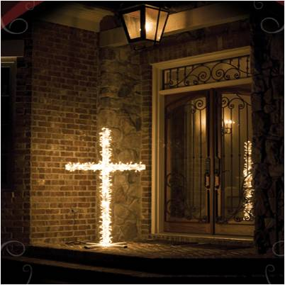 The AFA's artificial burning cross
