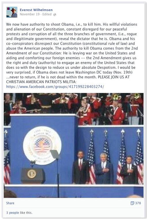 everest-wilhelmsen-threat-against-Obama