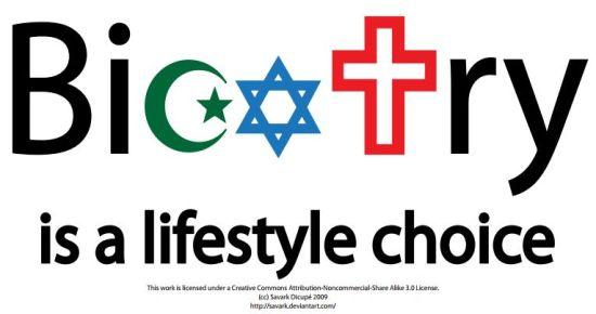 Source: http://savark.deviantart.com/art/Bigotry-is-a-lifestyle-choice-145648612