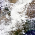 NASA satellite imagery of Northern India on June 17, showing rainclouds that led to the disaster (courtesy: Wikimedia)