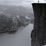 387px-Preikestolen_black_and_white