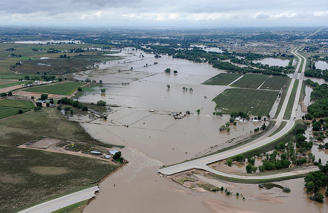 Flood in Greeley, Colorado, September 2013. US-EPA, US government work, no copyright restrictions.