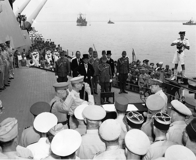 Japanese Surrender - USS Missouri 2 Sep 1945. Photo credit: Marion Doss. Some rights reserved. flickr.com.