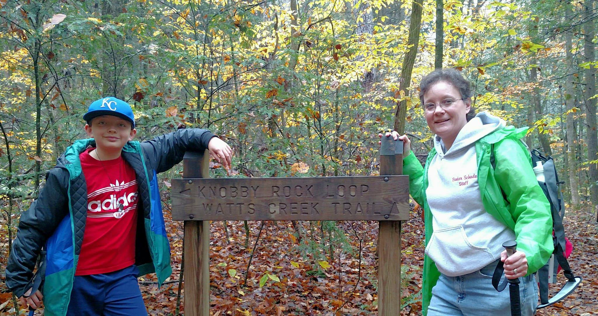 Leah Schade and son Benjamin, Blanton Forest, Ky.