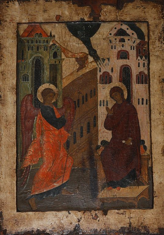 The Theotokos came to me through the Word #Annunciation