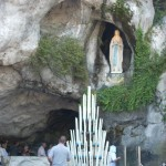 People wondered why there is no statue of Bernadette in the Grotto. But at Lourdes, we are all Bernadette.