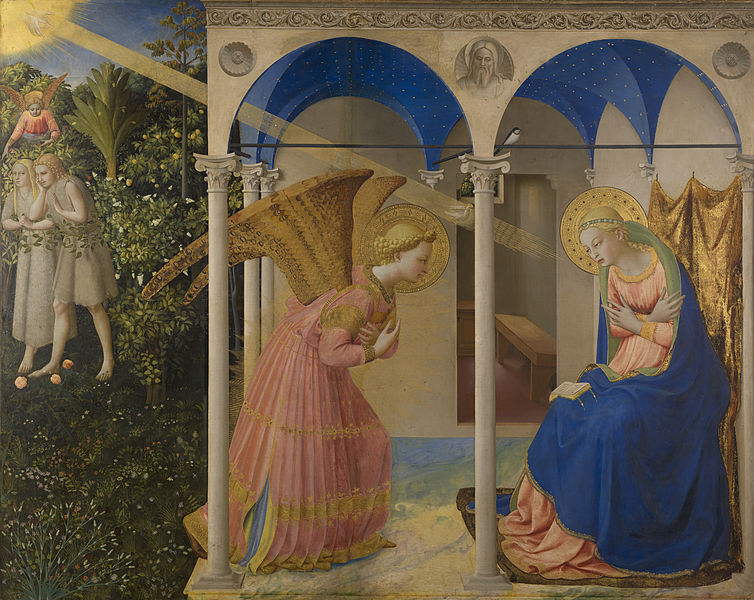 Artist Fra Angelico (circa 1395–1455) Title The Annunciation Description Altar retable Date 1430-1432 (Public Domain)