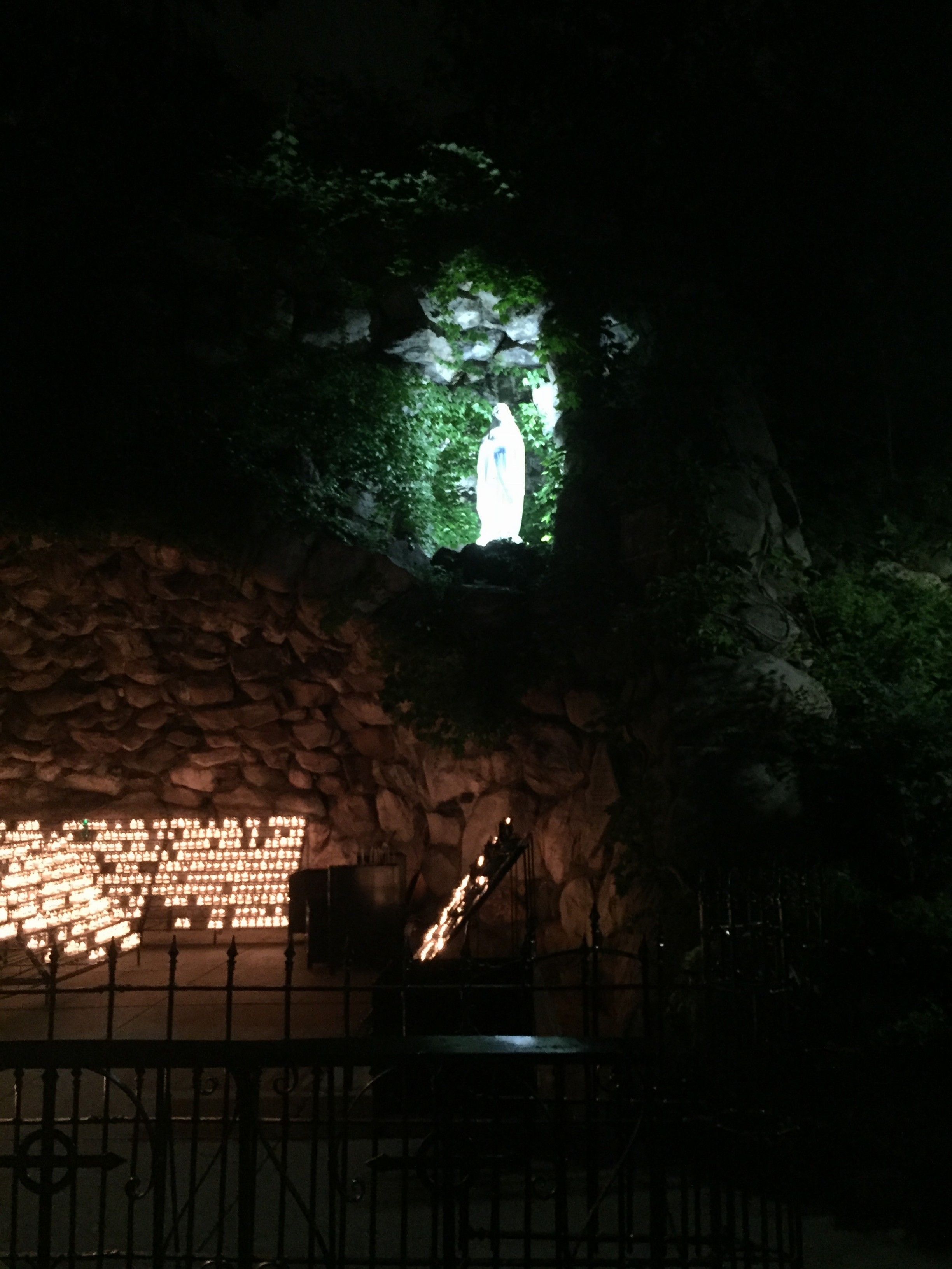 Photo of the Grotto at Notre Dame by David Russell Mosley