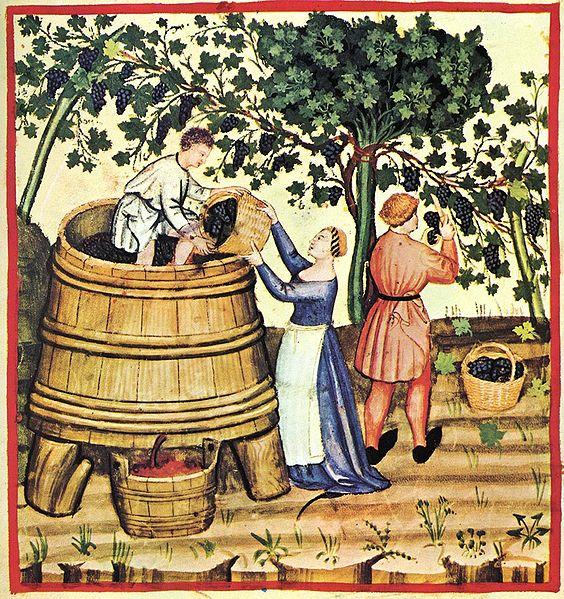 Description Tacuina sanitatis (XIV century) 9-autunno,Taccuino Sanitatis, Casanatense 4182. Date14th century Sourcebook scan Authorunknown master