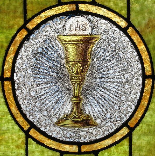Description English: Saint John the Baptist Catholic Church (Dry Ridge, Ohio) - stained glass, Eucharist Date 23 August 2014, 14:30:20 Source Own work Author Nheyob (CC BY-SA 4.0)