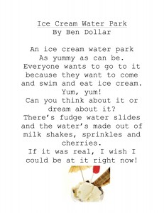 And Now, a Poem About Ice Cream