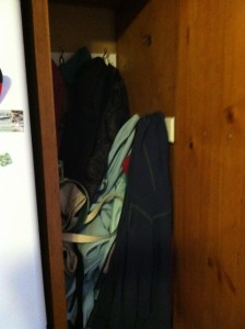 "Our completely dysfunctional ""coat closet"""