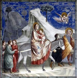 Fuga in Egitto, o Huida a Egipto, de Giotto (1303 a 1305). Fotografía de José Luiz Bernardes Ribeiro, CC BY-SA 4.0.