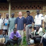 Michael with his Sudanese students