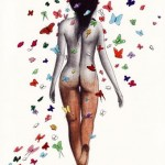 naked girl butterfly
