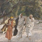 The Pilgrims of Emmaus on the Road (Tissot)