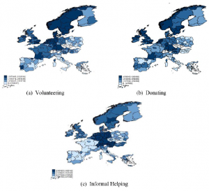 Volunteering and charitable donations across Europe