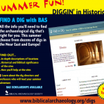 Find a Dig in Israel this Summer