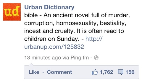 urban dictionary definition of the bible james mcgrath
