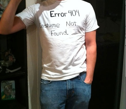 Error 404 Costume Not Found