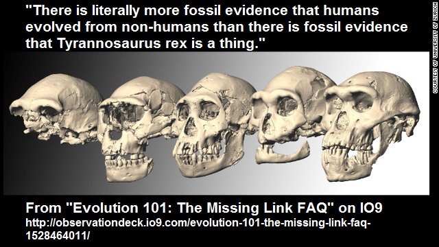 human evolution and the fossil record Dr raymond bohlin (phd in molecular and cell biology) recently spoke at the westminster conference on science and faith, and here's a.