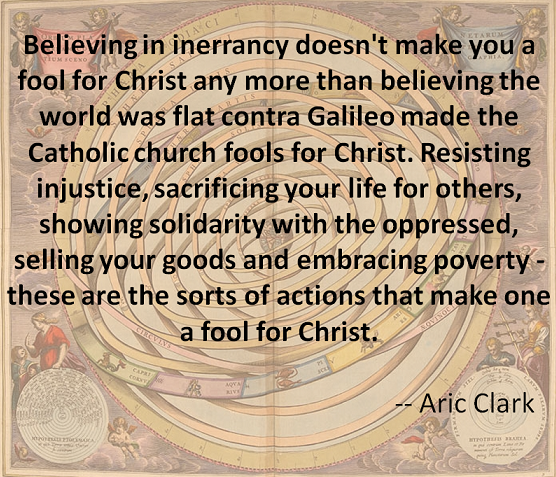 Aric Clark Fools for Christ quote