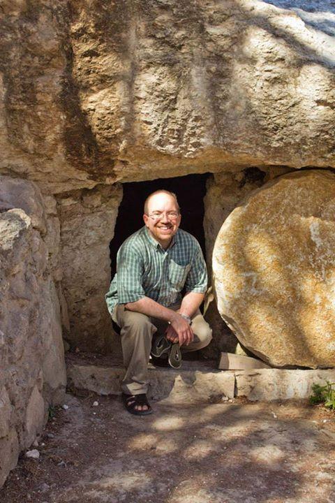 James McGrath exits the tomb