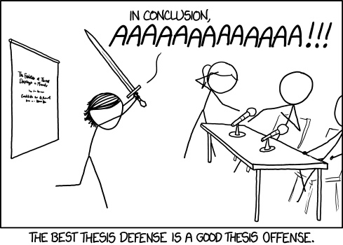 Defend master thesis