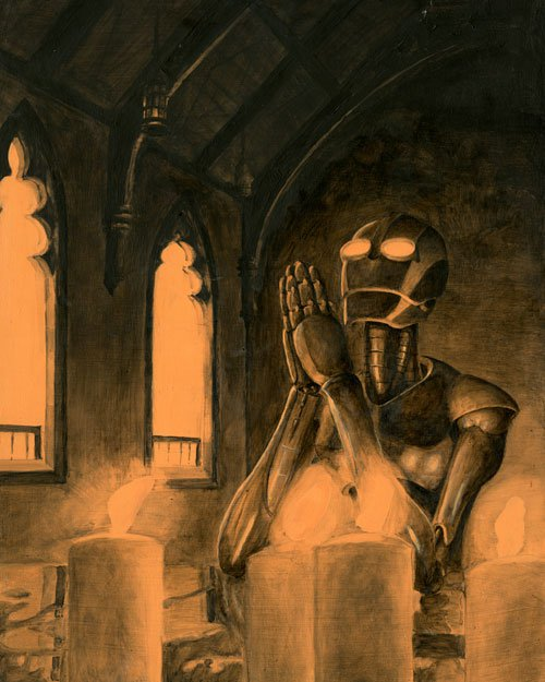 grisaille_robot_praying