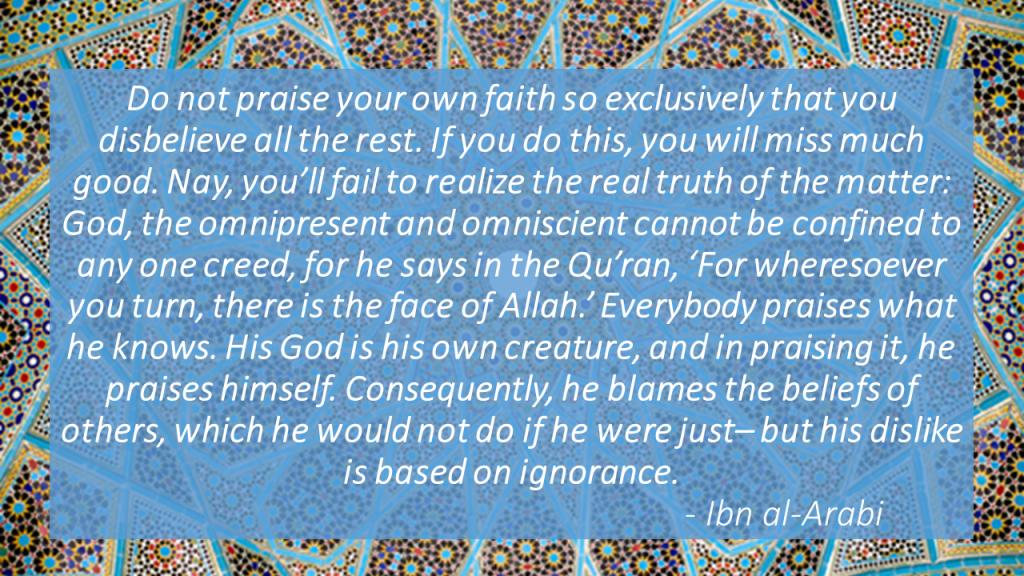 Ibn al-Arabi quote