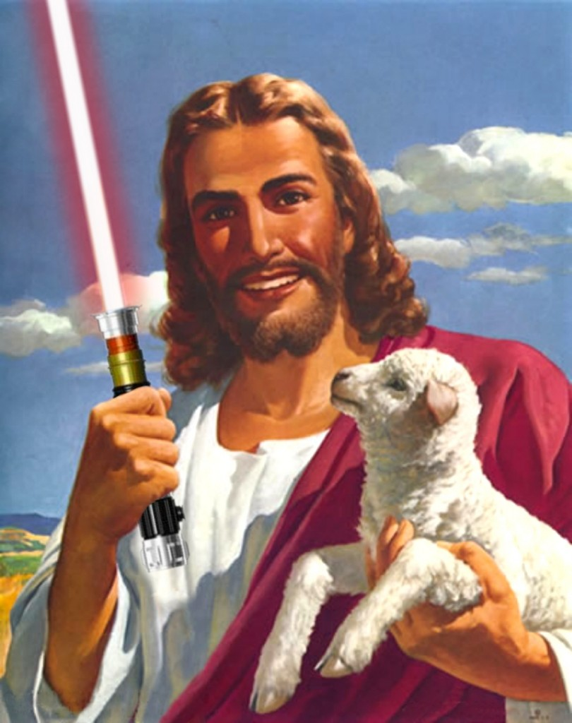 "Now, here are some more ""Jedi Jesus"" images, and similar things ...: www.patheos.com/blogs/exploringourmatrix/2014/12/jesus-to-appear-in..."