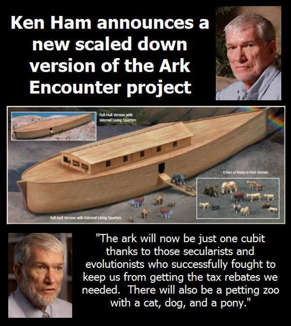 Ken Ham Announces Scaled Down Ark Park
