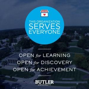 Butler University open for everyone