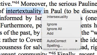 intertextuality autocorrect
