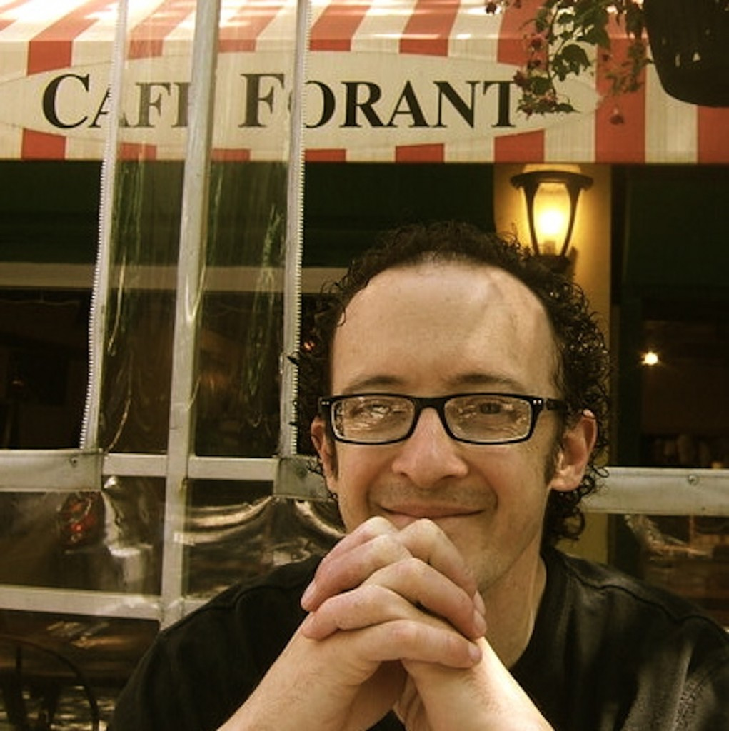 Daniel Fuller at a cafe in NY