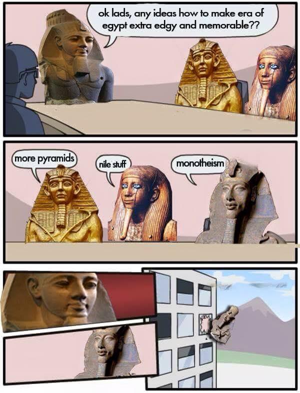 Akhenaten's Boardroom Suggestion