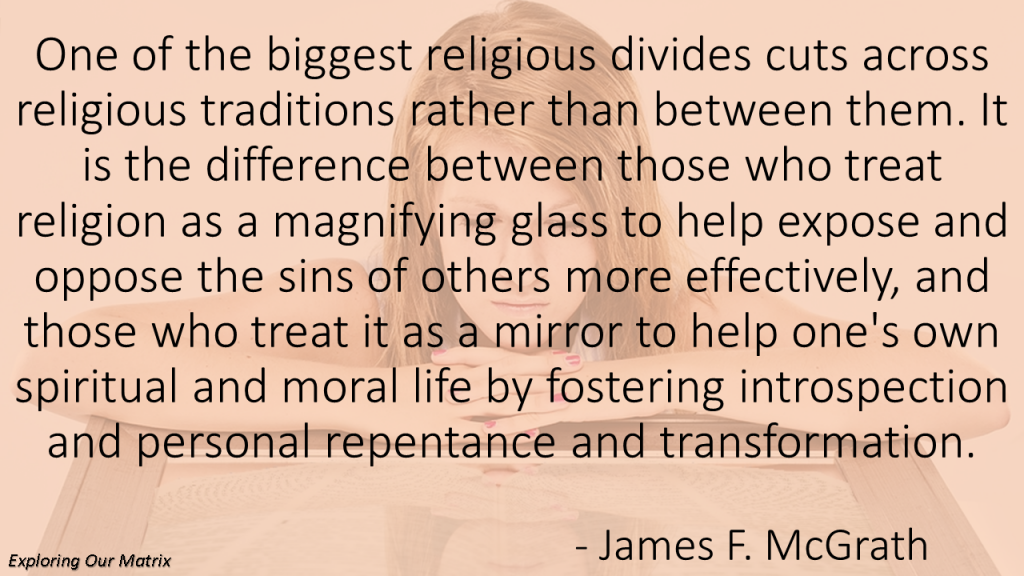 Religion as mirror or magnifying glass