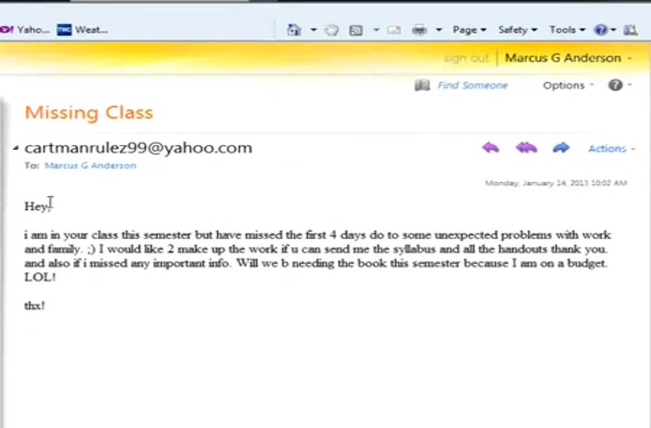 How to E-Mail a Professor