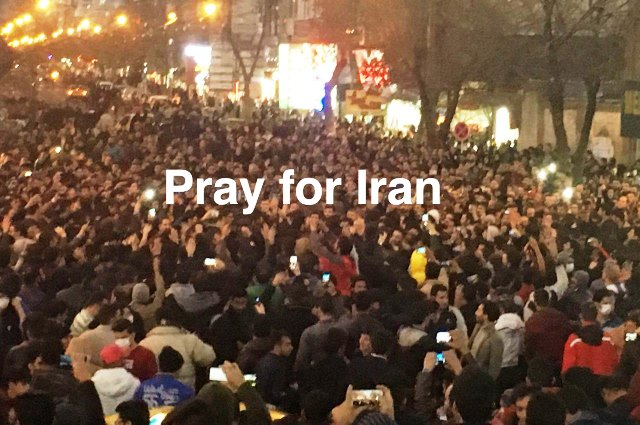 Iranians on the street, December 2017. (Photo credit: Maryam Rostampour)