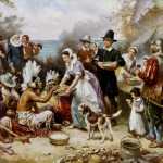 The First Thanksgiving, 1621, painting by J.L.G. Ferris (1863-1930). Library of Congress, Washington, D.C. (neg. no. LC-USZC4-4961)