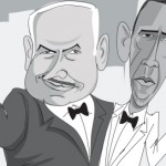 Israeli Newspaper Depicts Netanyahu and Obama as Characters in 'The Artist'