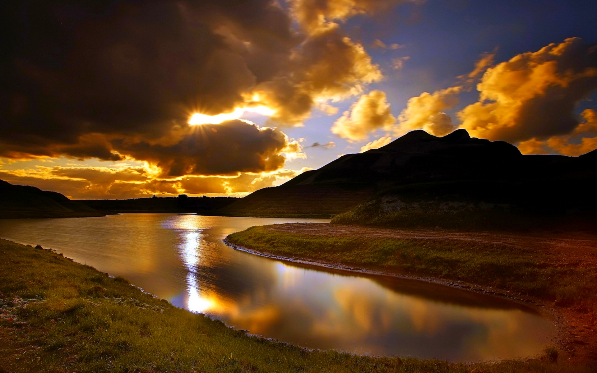 nature desktop clouds glory background sky landscape god sun hidden story sunset gods earth wallpapers stealing reflection sunrise lakes mac
