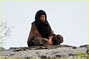 **EXCLUSIVE** FIRST ON-SET PICS! Ewan McGregor gets into character as a holy man in the desert to film scenes for new indie flick 'Last Days in the Desert'