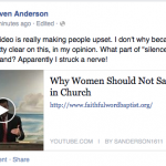 "Women Shouldn't Say Amen in Church? (Putting the ""Mental"" in Fundamentalist)"